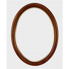 Ovale houten lijst 50 x 60 cm