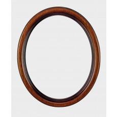 Ovale houten lijst 20 x 25 cm