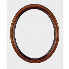 Ovale houten lijst 30  x 40 cm