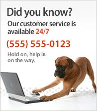 Onze klantenservice is 24 per dag beschikbaar. Bel ons op (555) 555-0123.
